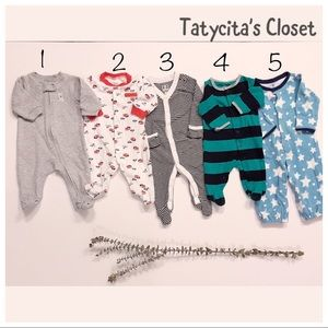 Pack of 3 pjs 3 months and 3-6 months